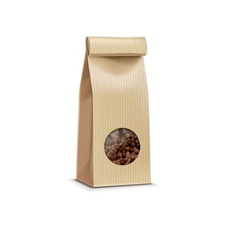 Illustration for Vector Coffee Packaging Package Bag Isolated - Royalty Free Image