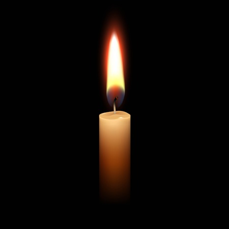 Illustration for Candle Flame Fire Light Isolated Background - Royalty Free Image