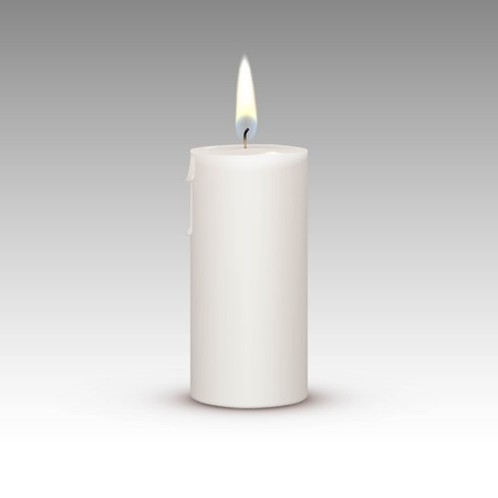 Illustration pour Candle Flame Fire Light Isolated on Background - image libre de droit