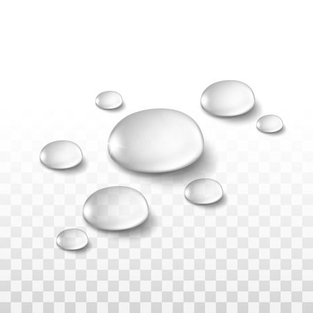 Illustration pour Water Drops Set Isolated on Transparent Background - image libre de droit
