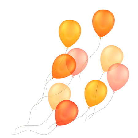 Illustration pour Vector Orange Yellow Balloons Isolated Background - image libre de droit