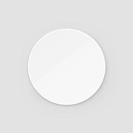 Illustration pour White Round Blank Beer Coaster Vector Isolated Illustration - image libre de droit