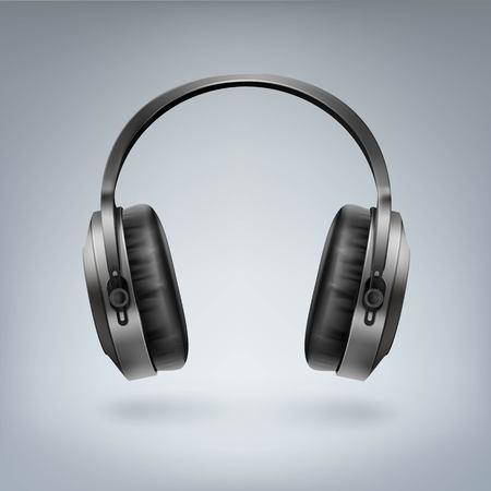 Ilustración de Realistic wireless headphones Illustration. - Imagen libre de derechos