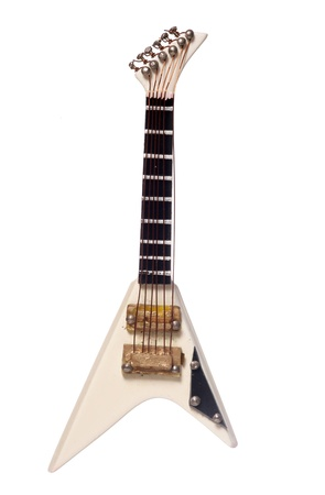 Electric guitar musical instrument studio cutout