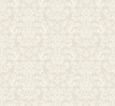 Illustration pour Beige seamless vintage floral wallpaper pattern. Vector format. - image libre de droit