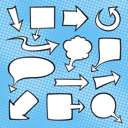 Illustration pour Comic book arrows and banners. File format is EPS8. - image libre de droit