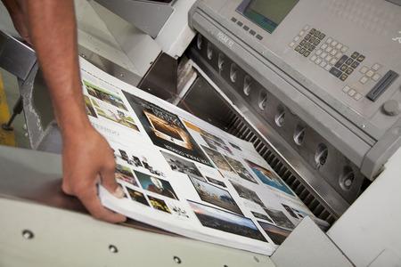 Foto de production of a printing - Imagen libre de derechos