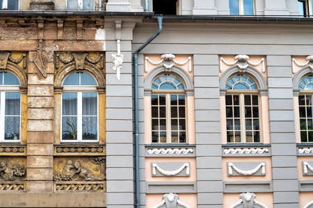 Photo for front of building in Germany with old and reconstructed part - Royalty Free Image