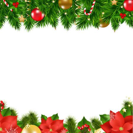 Ilustración de Christmas Borders With Gradient Mesh, Vector Illustration - Imagen libre de derechos