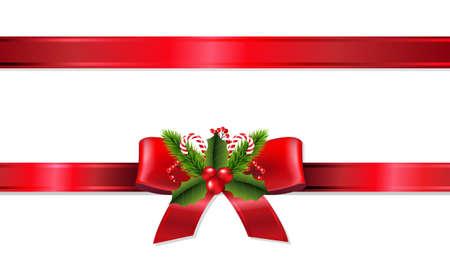 Illustration pour Christmas Ribbon With Gradient Mesh, Vector Illustration - image libre de droit