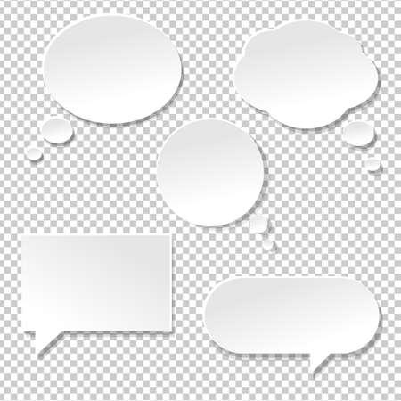 Ilustración de Speech Bubble Big Set, Isolated on Transparent Background, Vector Illustration - Imagen libre de derechos