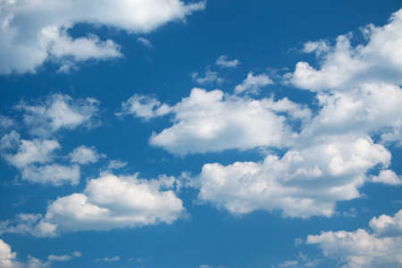 Photo pour white clouds on the blue sky on sunny day - image libre de droit
