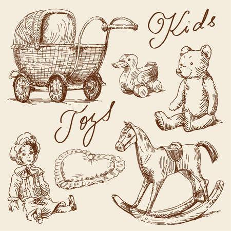 Photo pour hand drawn toys  - image libre de droit