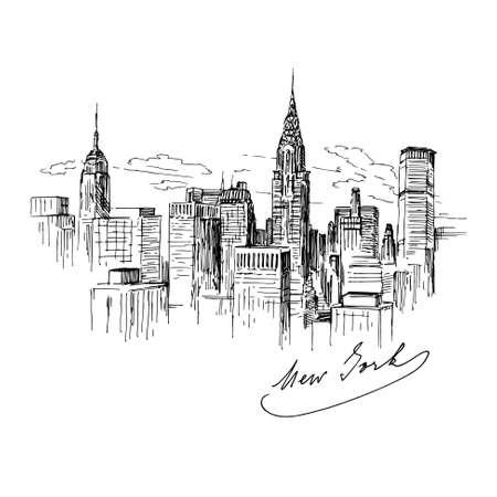 Foto de New York - hand drawn illustration - Imagen libre de derechos