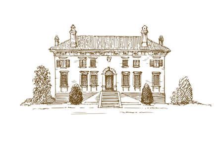 Illustration for Renaissance Italian Villa. - Royalty Free Image