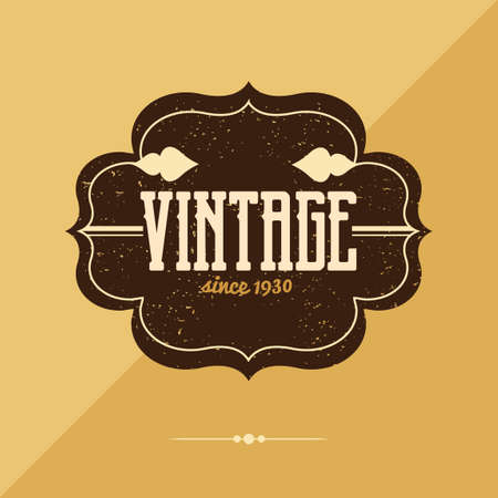 Photo for Vintage label - Royalty Free Image