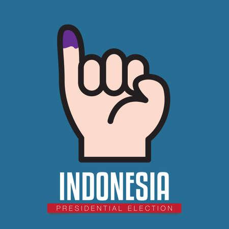 Illustration pour Indonesia presidential election - image libre de droit