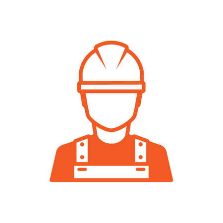Photo for Construction worker icon - Royalty Free Image