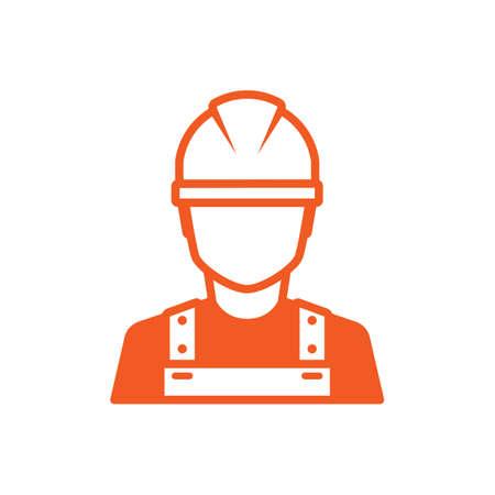 Illustration pour Construction worker icon - image libre de droit