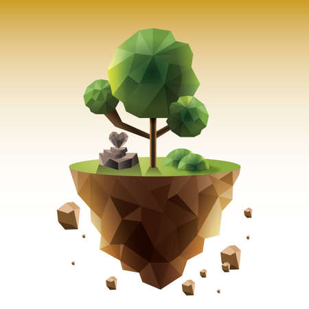 Ilustración de Floating island - Imagen libre de derechos