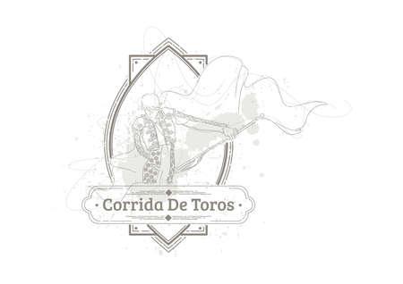 Illustration pour corrida de toros - image libre de droit