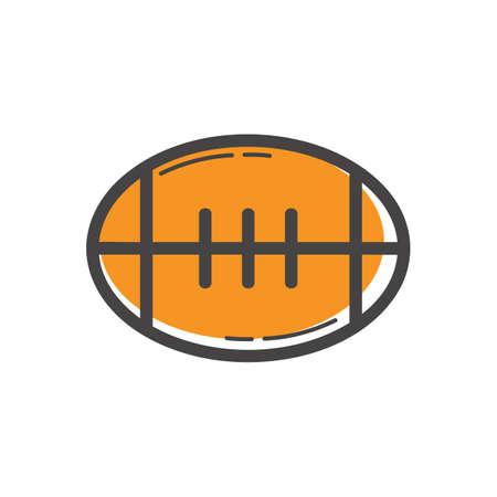 Ilustración de An american football illustration. - Imagen libre de derechos