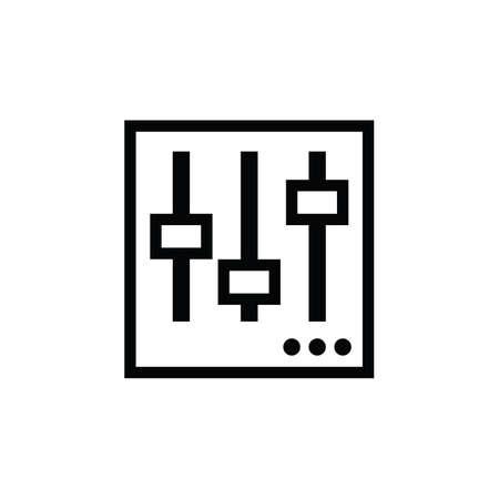 Illustration pour Mixing console - image libre de droit