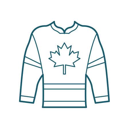 Illustration pour Hockey jersey - image libre de droit