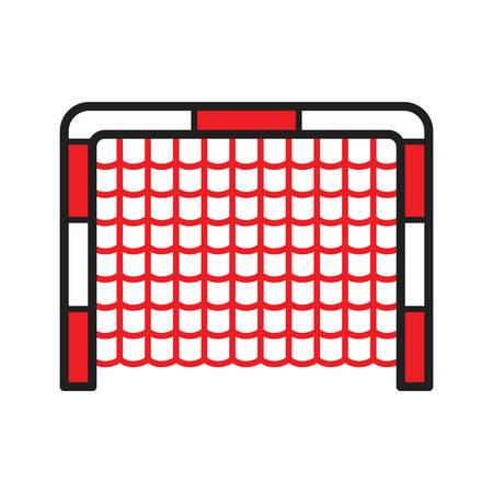 Illustration pour A hockey goal illustration. - image libre de droit