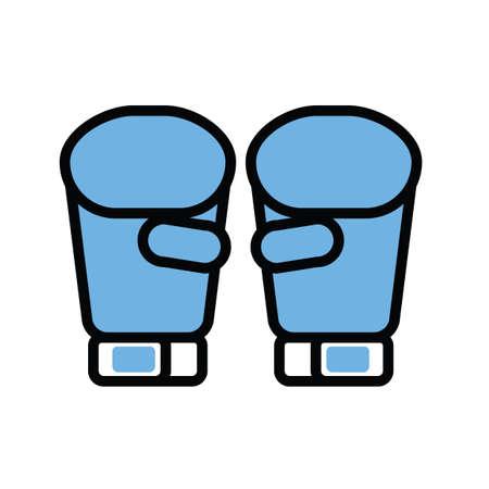 Illustration for boxing gloves - Royalty Free Image