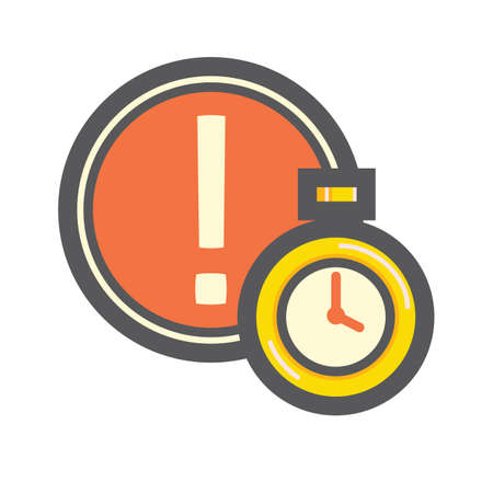 Ilustración de caution and timer - Imagen libre de derechos