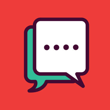 Illustration for message icon - Royalty Free Image