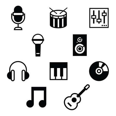 Illustration pour set of musical instruments - image libre de droit