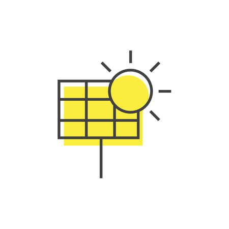 Ilustración de A solar panel with sun illustration. - Imagen libre de derechos