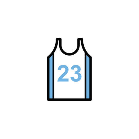 Illustration for basketball jersey - Royalty Free Image