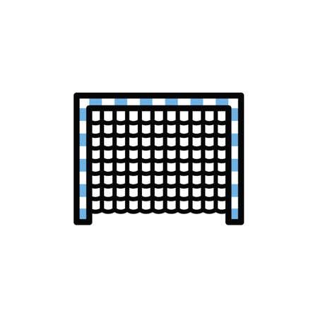 Illustration for football net - Royalty Free Image