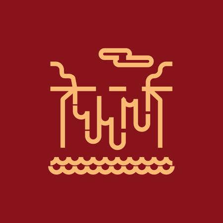 Ilustración de niagara falls - Imagen libre de derechos