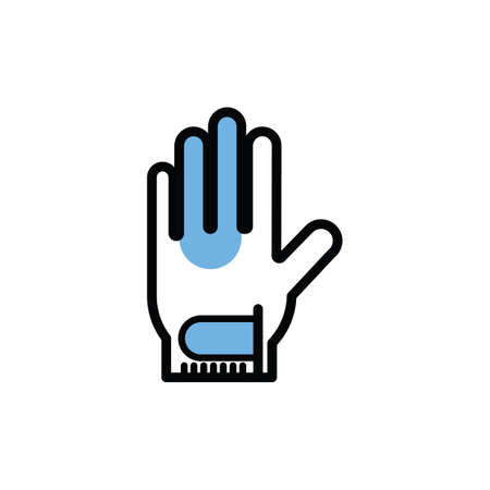 Illustration for hand glove - Royalty Free Image