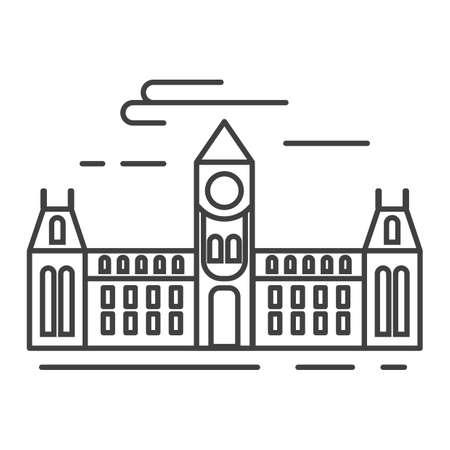 Illustration pour ottawa's parliament hill - image libre de droit