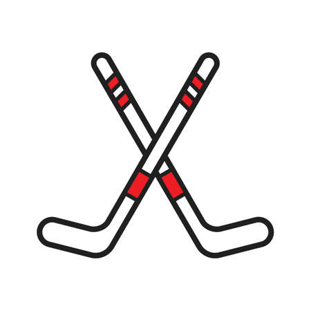 Ilustración de Ice hockey sticks illustration. - Imagen libre de derechos
