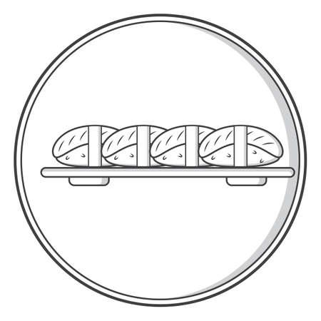 Illustration for sushi - Royalty Free Image