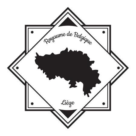 Illustration pour Liege map label - image libre de droit
