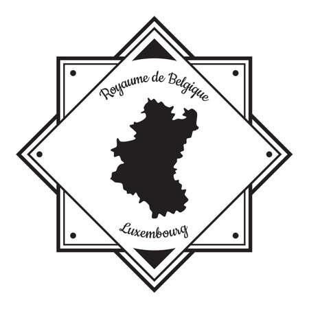 Illustration pour Luxembourg map label - image libre de droit