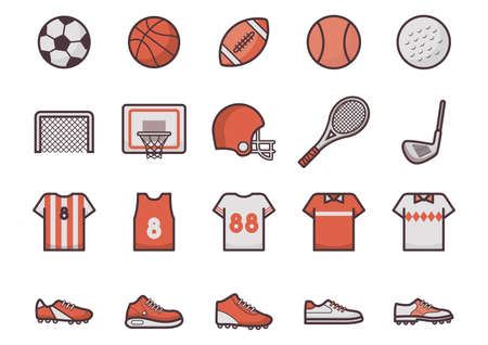 Illustrazione per sport icon collection - Immagini Royalty Free
