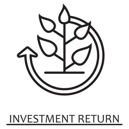 Illustration for Investment return concept. - Royalty Free Image
