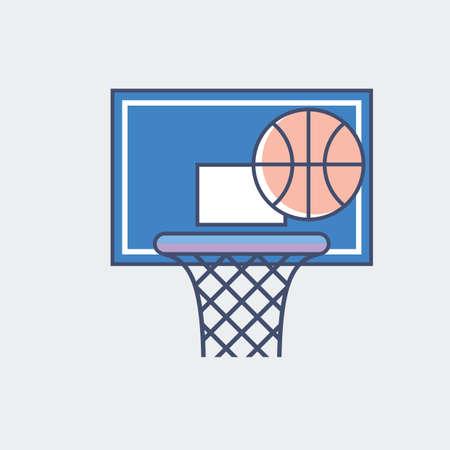 Ilustración de A basketball illustration. - Imagen libre de derechos
