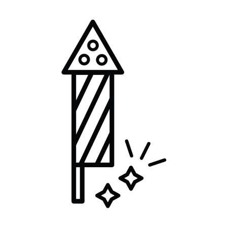 Illustration for firework rocket - Royalty Free Image