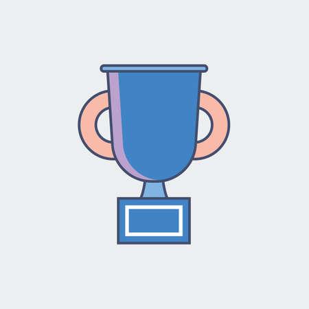 Illustration for A trophy cup illustration. - Royalty Free Image
