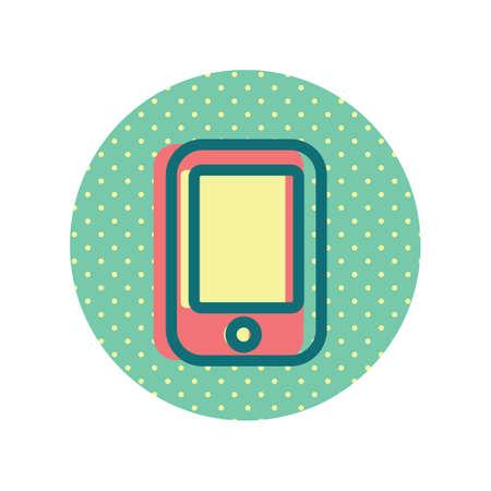 Illustration pour A mobile phone icon illustration. - image libre de droit
