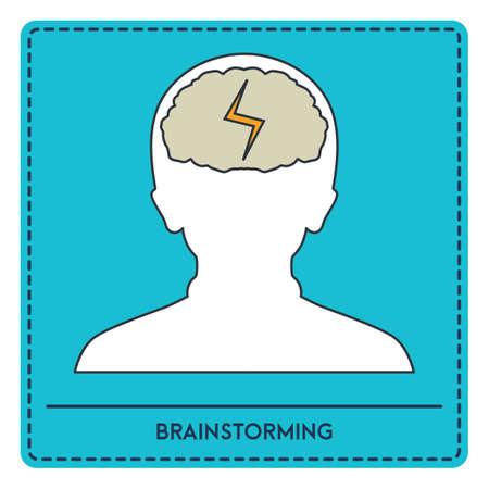 Illustration pour brainstorming - image libre de droit
